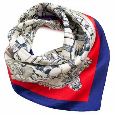Small neckerchief - white and red - 1