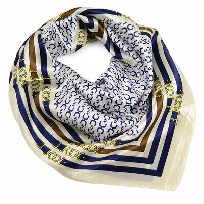 Small neckerchief - white and blue - 1