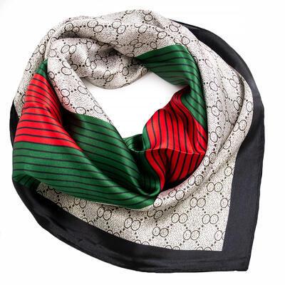 Small neckerchief - white and green - 1