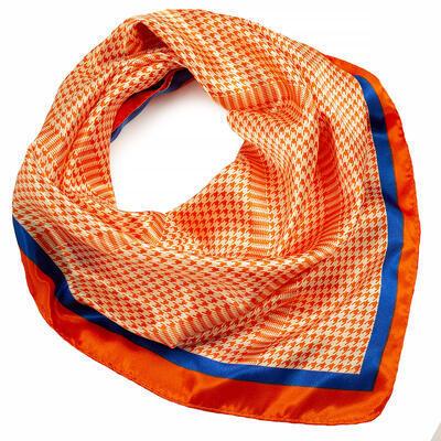 Small neckerchief - orange and white - 1