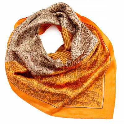 Small neckerchief - orange and brown - 1