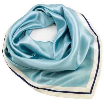 Small neckerchief - light blue and white - 1