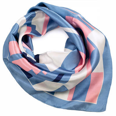 Small neckerchief - blue and pink - 1