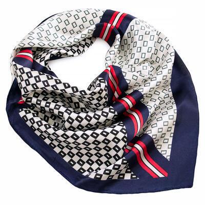 Small neckerchief - dark blue and white - 1
