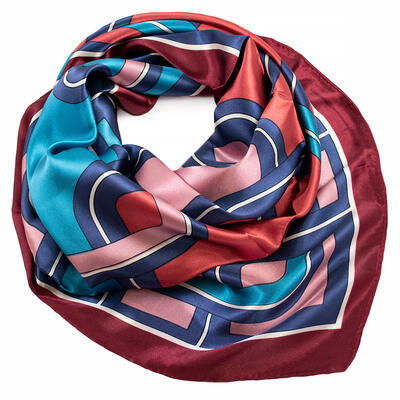 Small neckerchief - brown and pink - 1