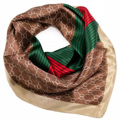 Small neckerchief - brown and green - 1