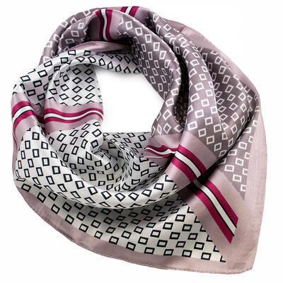 Small neckerchief - brown and white - 1