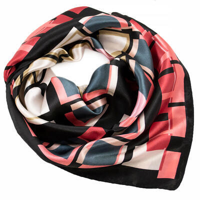 Small neckerchief - black and pink - 1