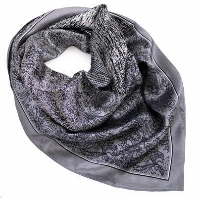 Small neckerchief - grey and white - 1