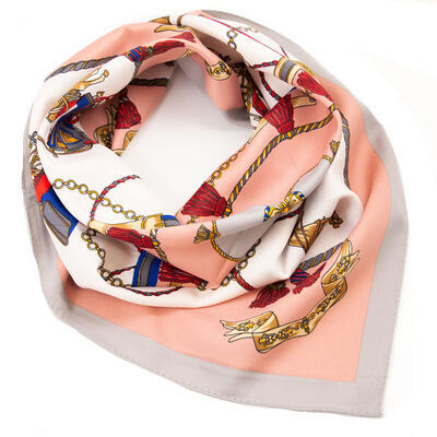 Small neckerchief - pink and white - 1
