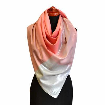Big square scarf - coral - 1