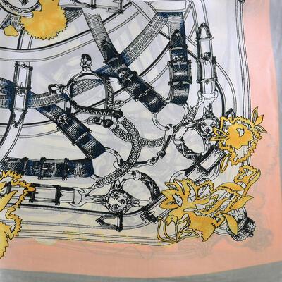 Jewelry scarf Stewardess - white and grey - 2