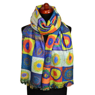 Blanket scarf bilateral - green and multicolor - 2