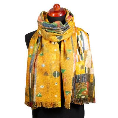 Blanket scarf bilateral - mustard yellow - 2