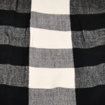 Men's warm scarf - black and white - 2