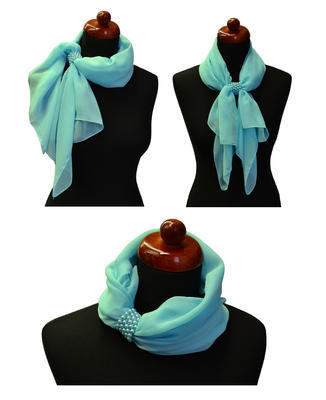 Jewelry scarf Melody - bluegreen and violet - 2