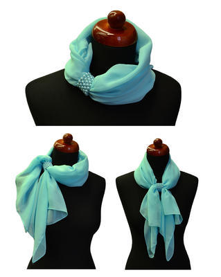 Jewelry scarf Melody - white - 2