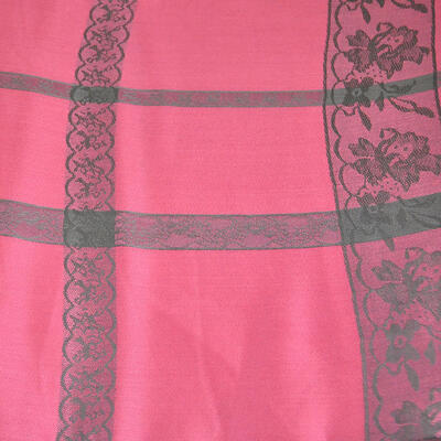 Classic winter scarf - pink and grey - 2