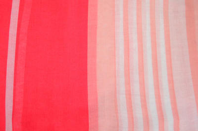 Classic women's scarf - pink with stripes - 2