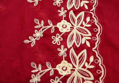 Classic women's scarf - red - 2