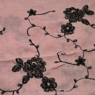 Classic women's scarf - grey and pink - 2