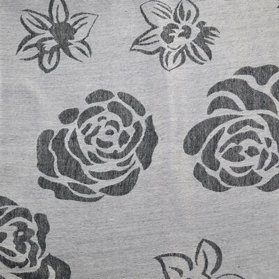 Classic women's scarf - grey and white - 2