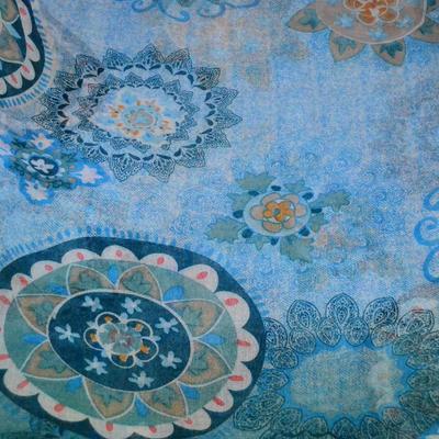 Classic women's scarf - blue - 2