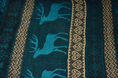 Classic cashmere scarf 69cz002-32 - turquoise - 2