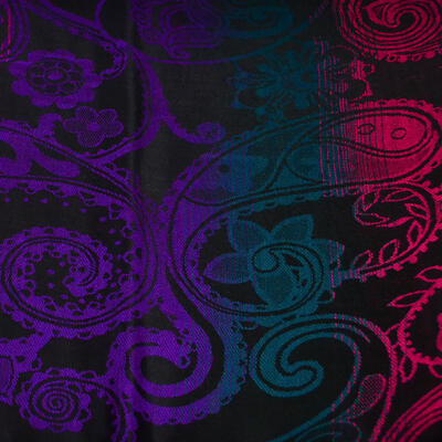 Classic warm scarf - black and violet - 2