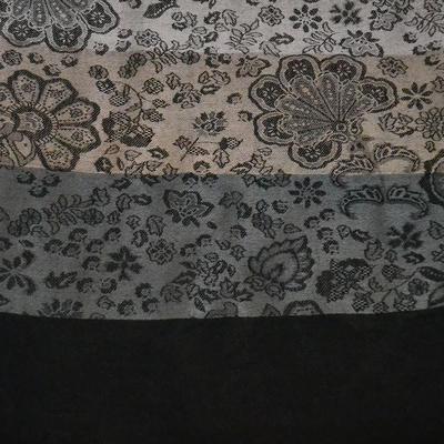 Classic warm scarf - grey and black - 2