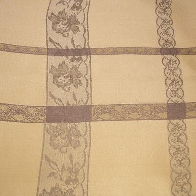 Classic winter scarf - beige - 2