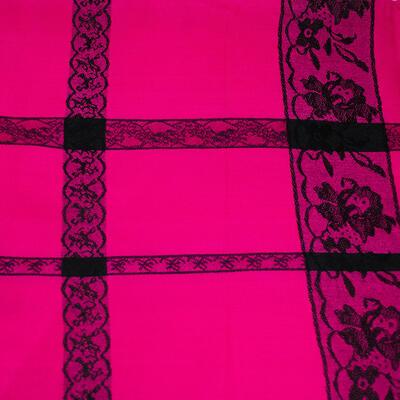 Classic winter scarf - fuchsia pink - 2