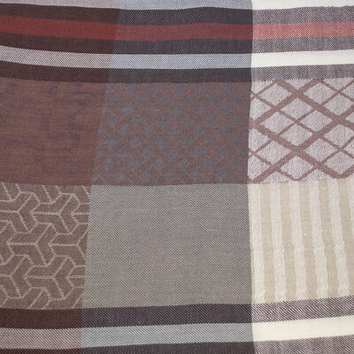 Classic warm scarf - brown and beige - 2