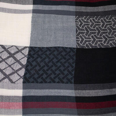 Classic warm scarf - black and white - 2