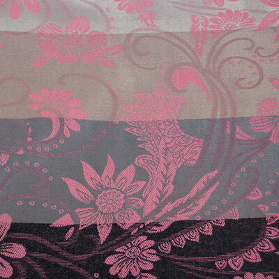 Classic warm double-sided scarf - grey and pink - 2