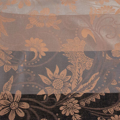 Classic warm double-sided scarf - grey and brown - 2