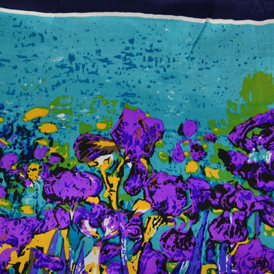 Small neckerchief 63sk004-32.33 - bluegreen and violet - 2