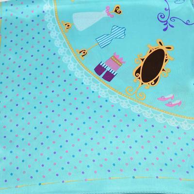 Small neckerchief 63sk009-32 - turquoise - 2