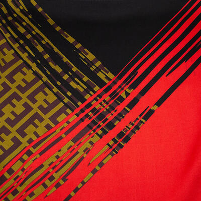 Square scarf- red and black - 2