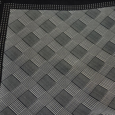 Square scarf - black and white - 2