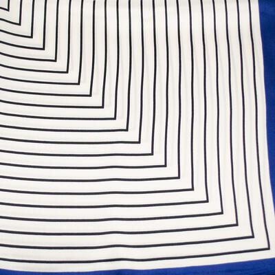 Small neckerchief - white and blue with stripes - 2