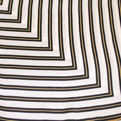 Small neckerchief - white and brown with stripes - 2