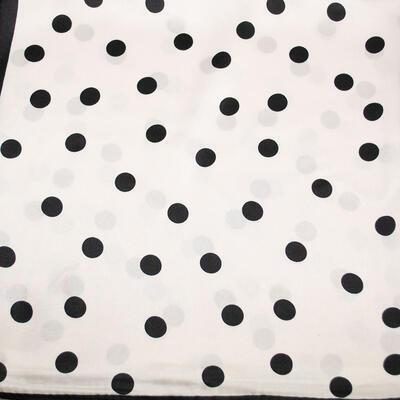 Small neckerchief - white and black polka dot - 2