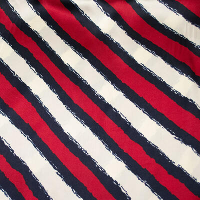 Small neckerchief - red and white with stripes - 2