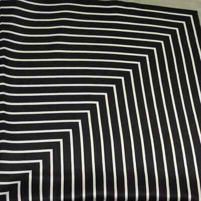 Small neckerchief - black and grey with stripes - 2