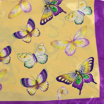 Small neckerchief 63sk005-14.35 - beige and violet - 2