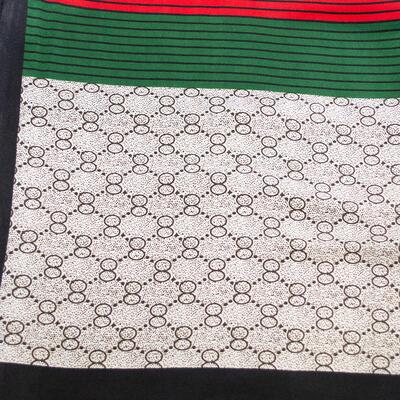 Small neckerchief - white and green - 2