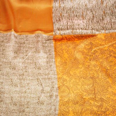 Small neckerchief - orange and brown - 2