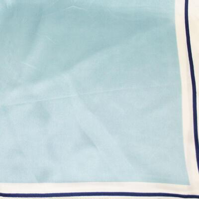 Small neckerchief - light blue and white - 2