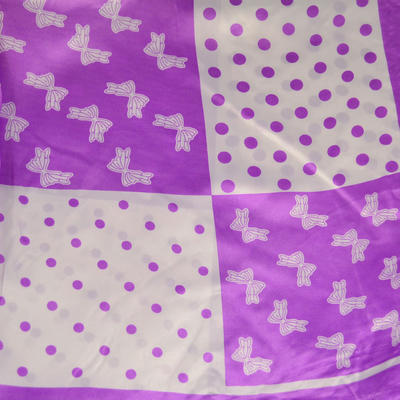 Square scarf - violet and white - 2
